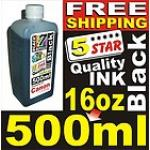 BLACK INKJET REFILL 500ml=16.9oz BULK INK FOR CANON